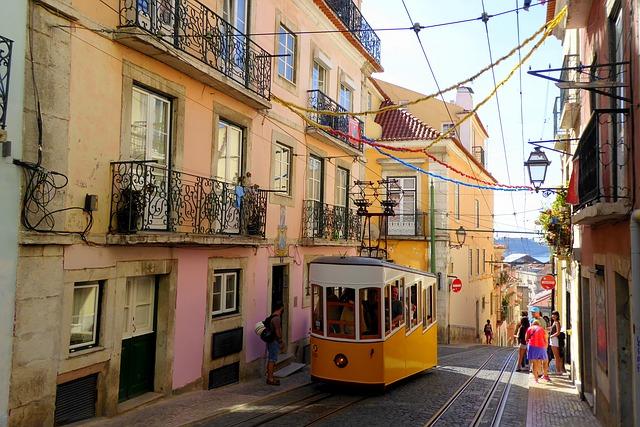 Tramway de Lisbonne Portugal Europe Voyage