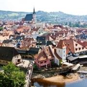 Cerky Krumlov Paysage Republiqeu Tchèque Europe Voyage