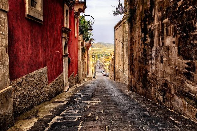 Rue de Palerme Sicile Italie Europe Voyage