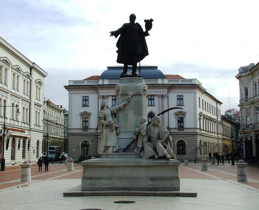 Statue Kossuth, Szeged Hongrie Europe Voyage