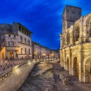 Amphithéâtre romain à Arles France Europe Voyage