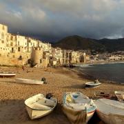 Cefalu en soirée Sicile Europe Voyage
