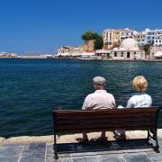 Front de mer à Chania Grèce Europe Voyage