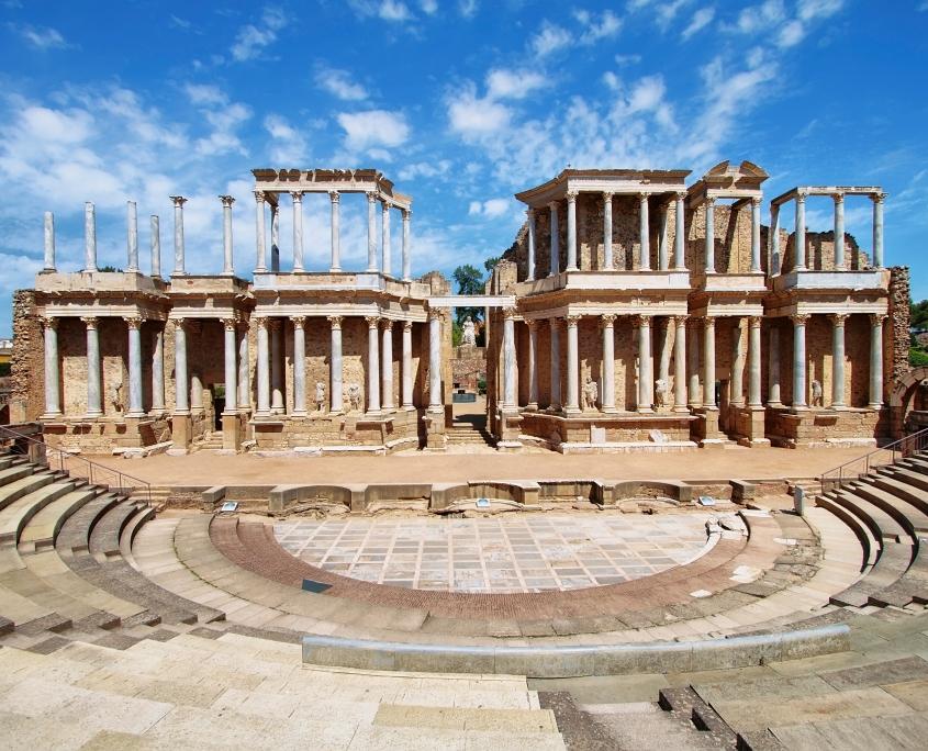 Le Théâtre romain à Merida, Espagne Europe Voyage