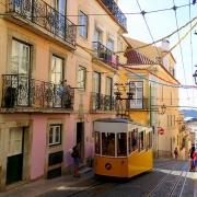 Tramway Lisbonne Portugal Europe Voyage