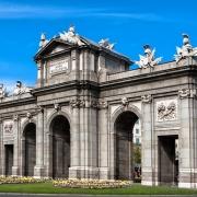 Madrid Porte Alcala Espagne Europe Voyage
