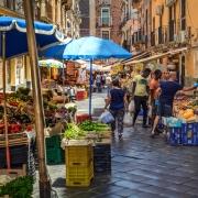 Marché à Catane Sicile Italie Europe Voyage