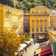 Marché aux fleurs à Nice France Europe Voyage