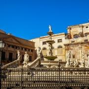 Monument Source De Pretoria Palerme Sicile Italie Europe Voyage