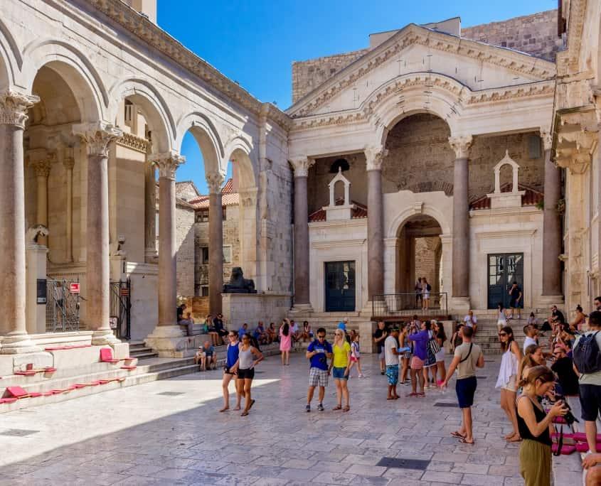 Péristyle du Palais de Dioclétien, Split. Croatie Europe Voyage