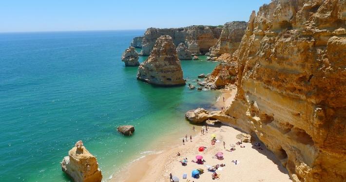 Plage Algarve Portugal Europe Voyage