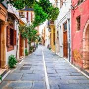 Rue de Réthymnon Grèce Europe Voyage