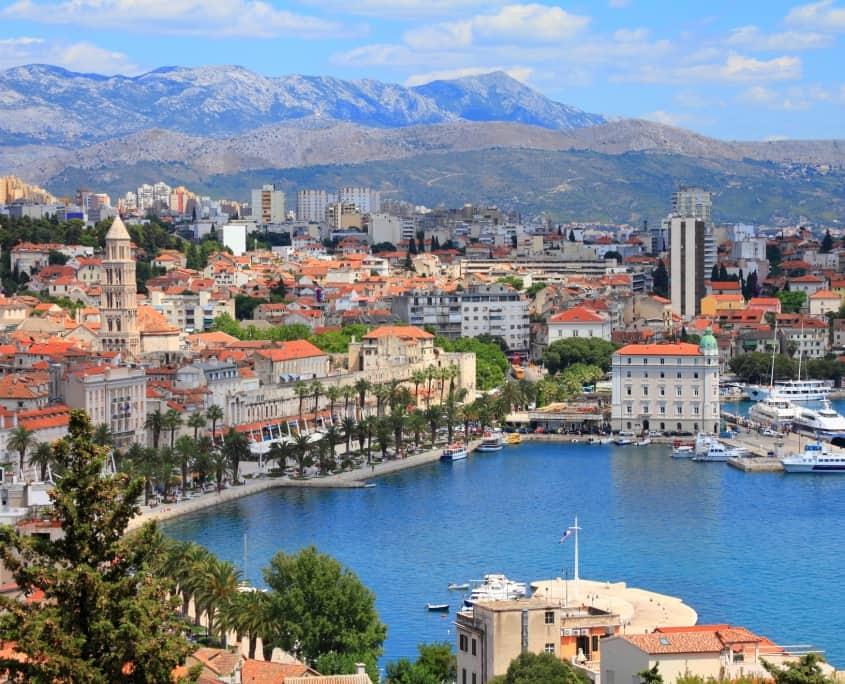 Vue Split Croatie Europe Voyage