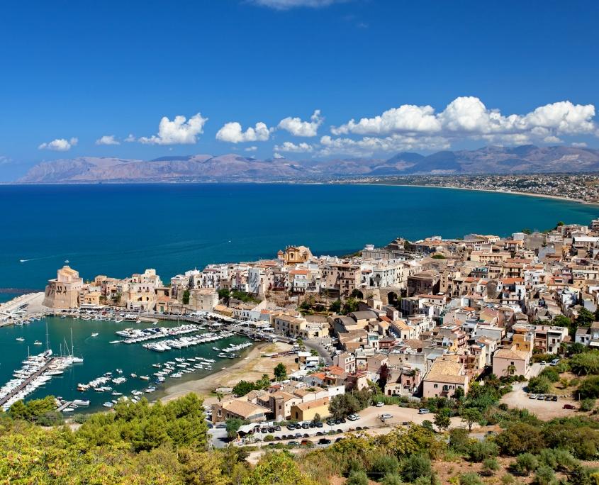 Vue panoramique de Trapanie, Sicile Italie Europe Voyage