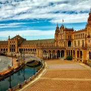 Séville plaza espana Espagne Europe Voyage