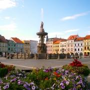 Place centrale Ceske Budejovice République Tchèque Europe Voyage