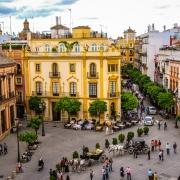 Plaza Del Triunfo, Seville Espagne Europe Voyage
