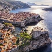 Vielle ville et le Fort Lovrijenac à Dubrovnik Croatie Europe Voyage