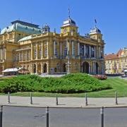 Zagreb Théâtre Nationale Croatie Europe Voyage
