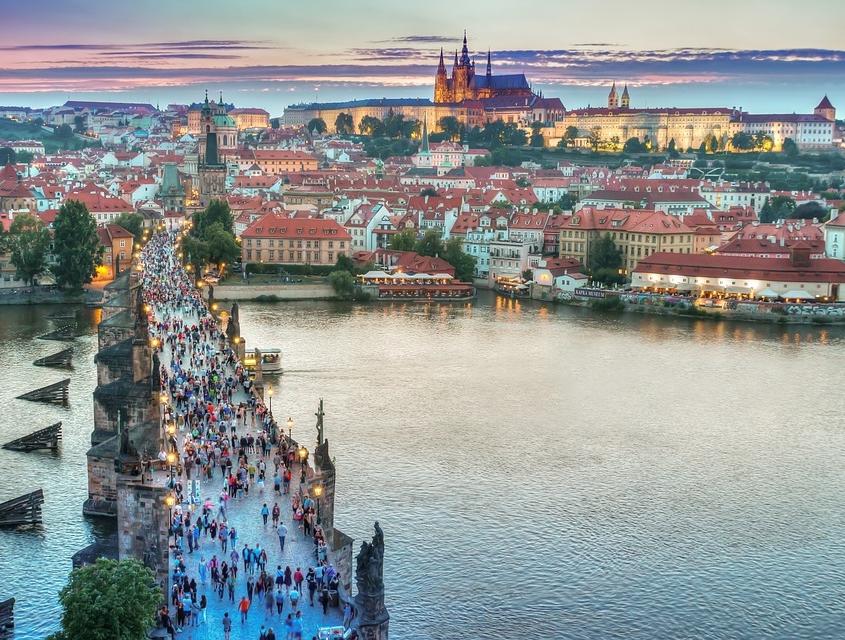 Prague ponts République Tchèque Europe Voyage