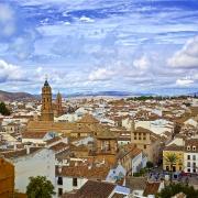 Panorama de la ville d'Antequera Espagne Europe Voyage