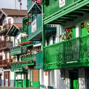 Facades de maisons, Hondarribia France Europe Voyage