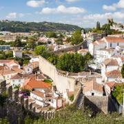 Village médiéval fortifié d'Obidos Portugal Europe Voyage