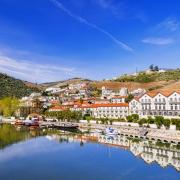 fleuve du Douro ville de Pinhao Portugal Europe Voyage
