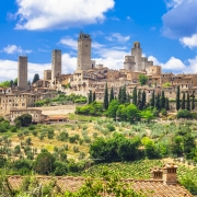 San Gimignano, village typique de Toscane Italie Europe Voyage