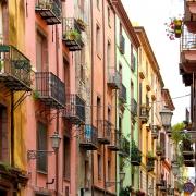 Rue colorée de Bosa, Sardaigne Italie Europe Voyage