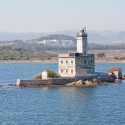Le phare du port d'Olbia Sardaigne Italie Voyage