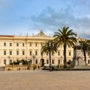 Piazza d'Italia in Sassari, Sardaigne Italie Europe Voyage