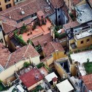 Vue du ciel de Bologne, Italie Europe Voyage