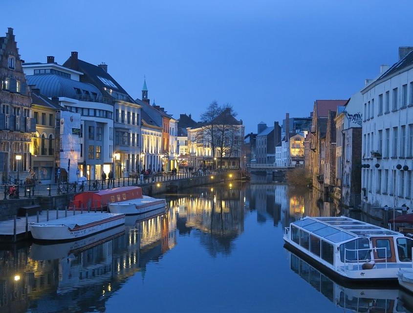 Gand la nuit, Belgique Europe Voyage