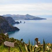 Vue de la baie de Lipari Sicile Europe Voyage