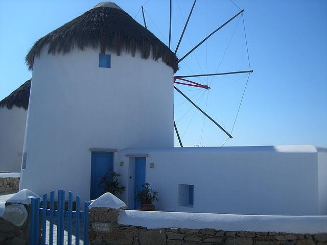 Moulin Mykonos Grèce Europe Voyage