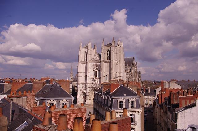 Vue de Nantes, France Europe Voyage