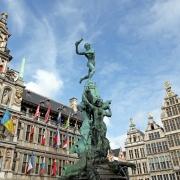 Statue de Brabo, Anvers, Belgique Europe Voyage