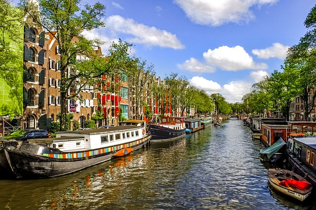Canal Amsterdam Pays Bas Europe Voyage