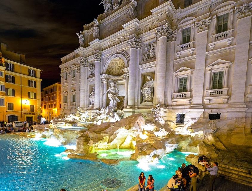 Fontaine de Trévi, Rome Italie Europe Voyage