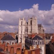 Vue sur la cathédrale de Nantes France Europe Voyage