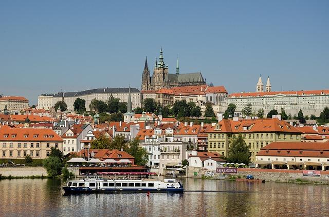Vue panoramique Prague République Tchèque Europe Voyage