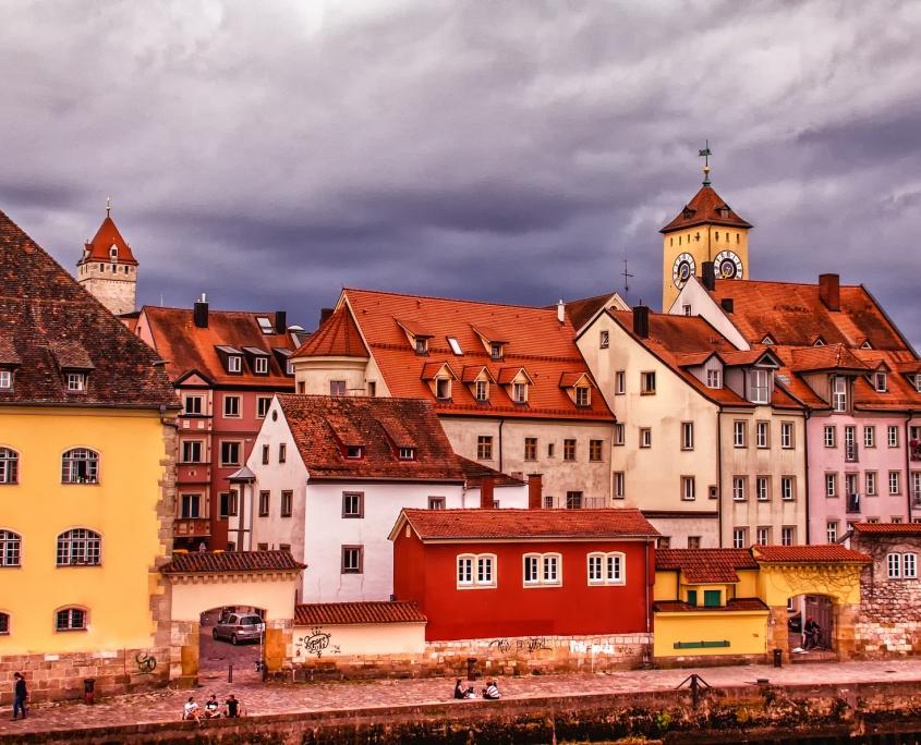 Ratsibonne maisons colorées Allemagne Europe Voyage