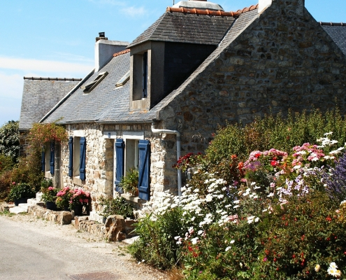 Cottage typique breton Bretagne France Europe Voyage