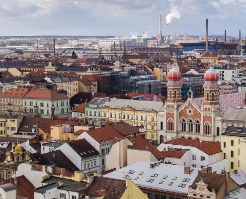 Vue Plzen République Tchèque Europe Voyage