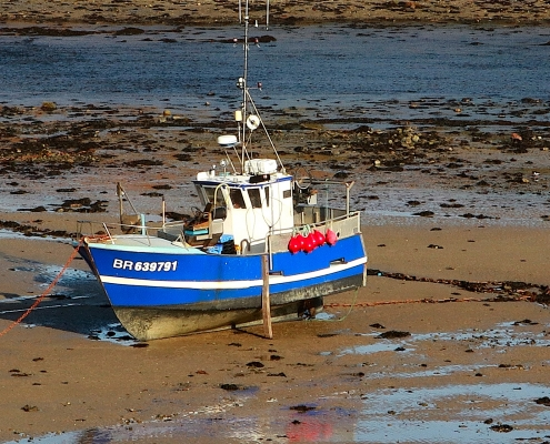 Bateau marée basse Bretagne France Europe Voyage
