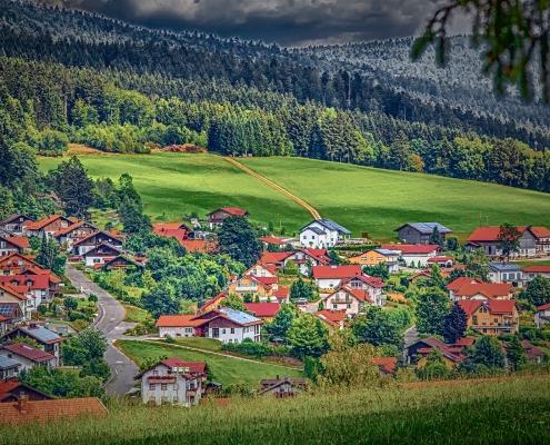 Paysage forêt de Bavière Allemagne Europe Voyage