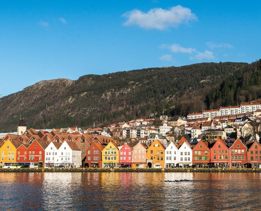 maisons Bergen Norvège voyage