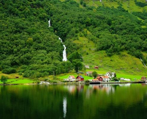 Sogne Fjord, Norvège Voyage