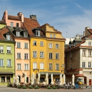 Varsovie maisons colorées Pologne Europe Voyage